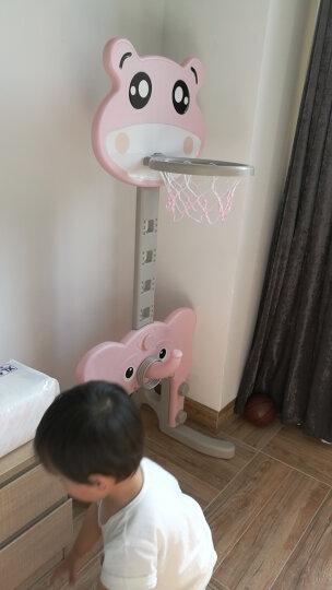 德驰(DECHI) 儿童篮球架子宝宝可升降投篮篮球框家用室内球类运动户外周岁玩具男孩女孩 绿色青蛙足球门+篮球架组合+音乐 晒单图