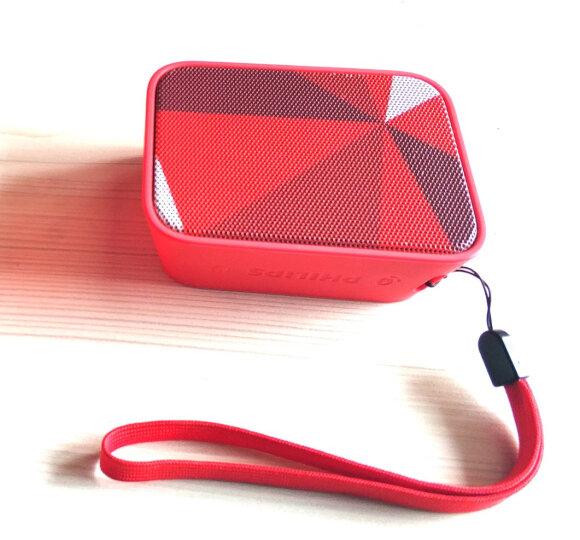 【京东joy联名款】飞利浦(PHILIPS)BT110R 音乐魔盒 蓝牙音箱 防水便携迷你音响 低音炮 户外运动播放器 红色 晒单图