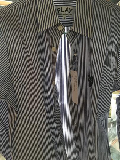 Comme des Garcons Play   日本潮牌  男士衬衫偏大一码 蓝色条纹B008 M 晒单图