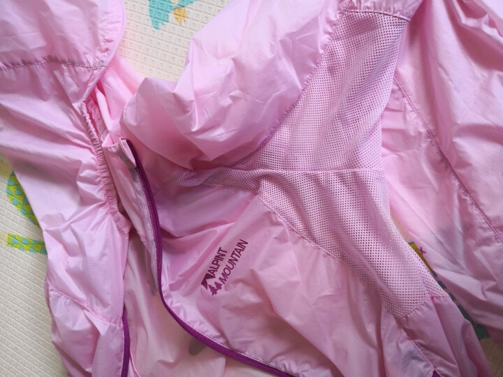 ALPINT MOUNTAIN 埃尔蒙特 户外防晒衣男女UPF40+ 皮肤衣防紫外线风衣透气 女款浅粉 XL 晒单图