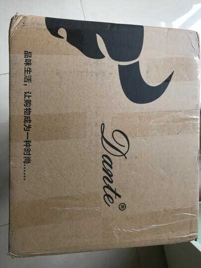 Dante 男包 男士羊皮单肩包编织纹斜挎包商务手提公文包休闲旅行软皮大包 213蓝色竖款 晒单图