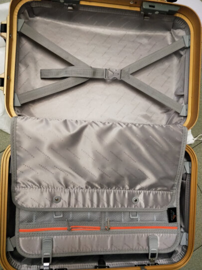 weekender铝框拉杆箱静音万向轮海关锁 20/24寸登机箱商务旅行箱 贝壳白 28寸 晒单图