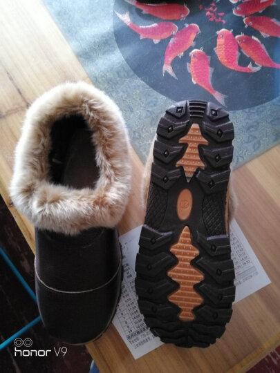 牧琛 冬季真皮保暖鞋 家居家室内包跟棉拖鞋 牛皮棉鞋男女牛筋厚底防滑MST217 男款-黑色 28适合41-42码 晒单图