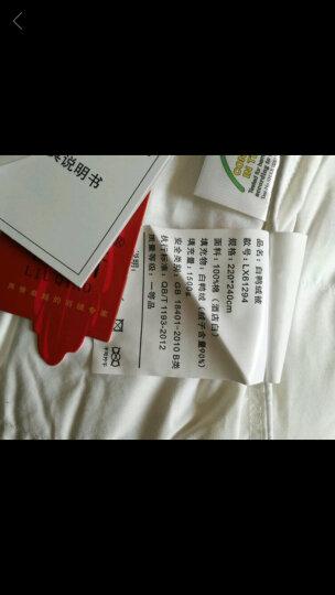 柳桥家纺 羽绒被95白鹅绒 静音酒店双人贡缎加厚被芯被子冬被特价 经典粉 春秋款150*210cm 晒单图