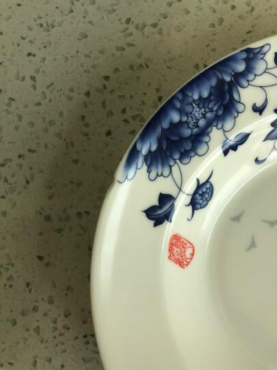 红叶 碗碟套装景德镇陶瓷餐具56头家用骨瓷餐具碗盘碟 南国 晒单图