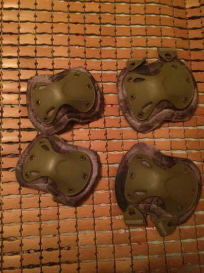 SEAL TEAM SIX海豹六队变形金刚战术护膝护肘4件套 野战真人CS装备护具迷彩套装 废墟迷彩 晒单图