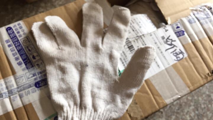 道酬 劳保纱手套工作白色工地机械喷漆内外墙装修施工防护喷油漆家庭装修棉纱线手套1双=2只价格 1双=2只=55克 晒单图