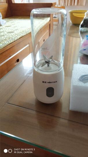 金正(NINTAUS) 榨汁机家用 迷你榨汁杯原汁机 便携式充电果汁机 S21双杯 晒单图