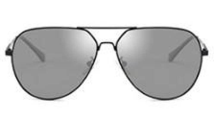 亚热带新款变色偏光太阳镜墨镜男司机驾驶眼镜蛤蟆镜 黑框灰片c2(不变色版) 晒单图