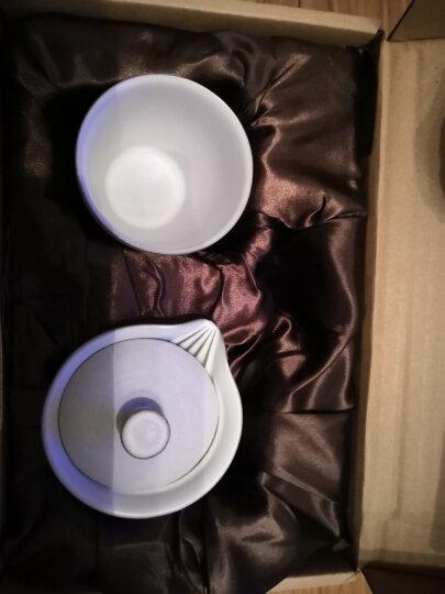 金镶玉 旅行功夫茶具 一壶一杯套装陶瓷便携茶杯 静心快客杯 晒单图