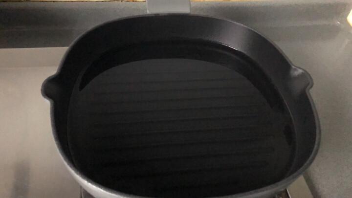 苏泊尔(SUPOR) 平底锅煎锅26cm珐琅电磁炉燃气不粘锅FLJ26A5煎烤锅牛排煎蛋锅 银河灰 晒单图