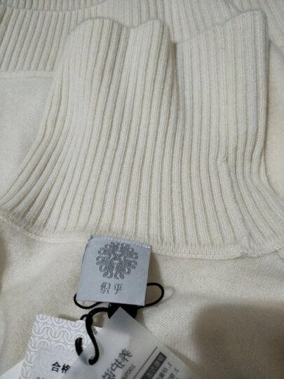 织乎秋冬新款纯色山羊绒衫女高领修身加厚套头毛衣女装针织打底衫 乳白色 L 晒单图