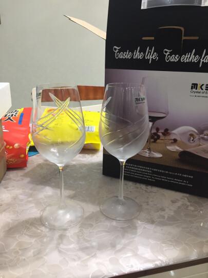 米卡莎(MKSA)红酒杯意大利进口手工雕刻无铅水晶红酒杯葡萄酒杯结婚对杯礼物酒具套装450ml*2支装 晒单图