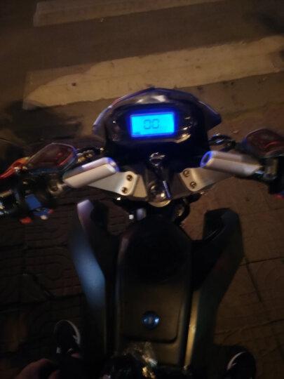 菲尔斯 M3大公仔小猴子电动车小摩托车电瓶车自行车72V96V休闲街车男女通用迷你电摩跑车 浅蓝色 2000w电机+72V 32A 六个电池 晒单图