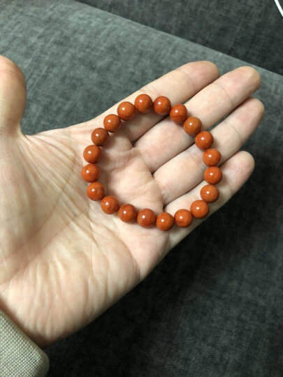 石传百世 6A7A级天然南红玛瑙手链散珠 玫瑰红柿子红南红玛瑙手串 原石打磨 7A级10毫米手链附证书 晒单图