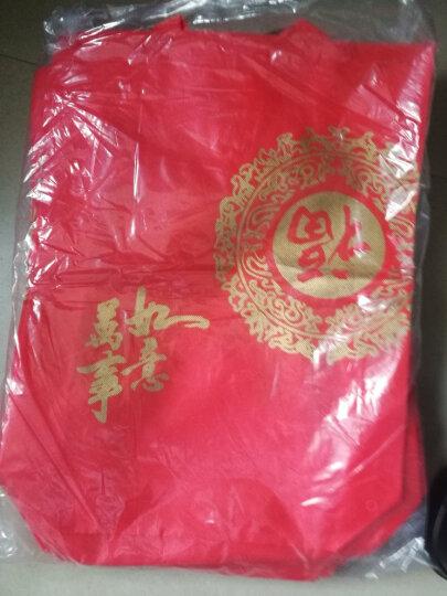 红色环保福字无纺布礼品袋 新贺年糖果茶叶白红名洋酒包装手提袋20个 35+10*42cm 20个 晒单图
