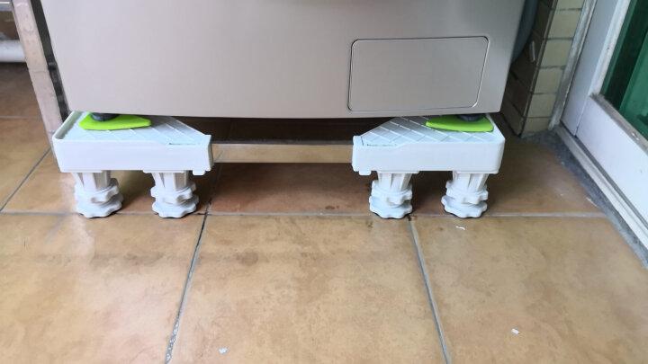 嘉沛 WA-330G4 固定洗衣机底座 托架 洗衣机增高架 支架 架子 冰箱底座 (8固定脚)白色 晒单图