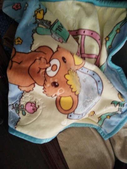 冬季珊瑚绒双层加厚儿童毛毯宝宝盖毯婴儿云毯子小孩新生儿小被子 蝴蝶结棕-双层加厚(包边)云毯 晒单图