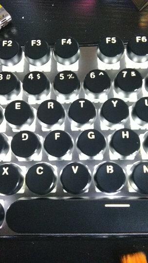 黑爵(AJAZZ) AK33i 朋克游戏机械键盘 有线青轴黑轴108键复古圆形键帽键盘无冲 朋克108键黑色白光(青轴) 晒单图