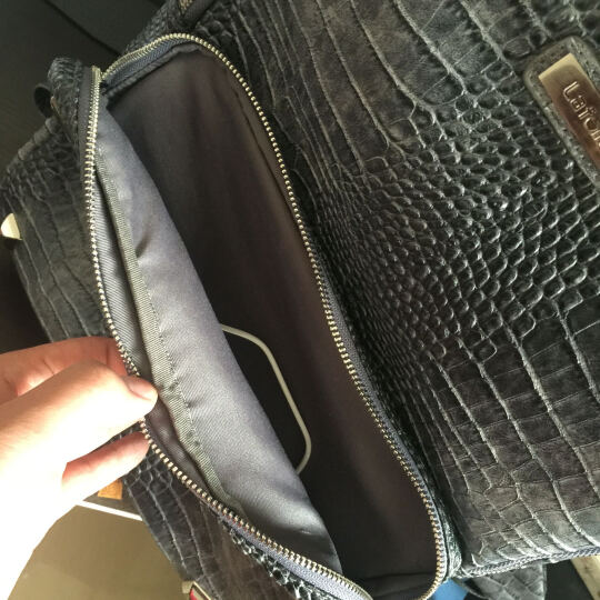 法国老佛爷 笔记本双肩背包MacBook蟒蛇纹背包时尚电脑包 13.3-15寸 蓝色 晒单图