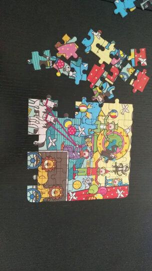 邦臣小红花 3-6岁 动手动脑玩拼图全4册 48块63块拼版 多块积木拼版 纸质拼图宝宝儿 晒单图