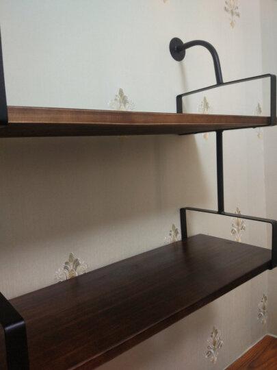 解放鹿 墙上置物架墙壁挂式书架客厅一字隔板储物间收纳架铁艺实木墙面搁物架工业风搁板厨房休闲吧咖啡厅 混搭三 晒单图