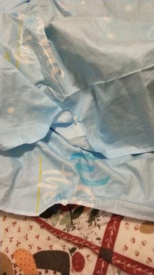 纯棉隔脏睡袋 双人 四季旅行户外露营宾馆酒店便携睡袋毯加厚居家空调午休毯 宝蓝色火烈鸟 2.0米 晒单图