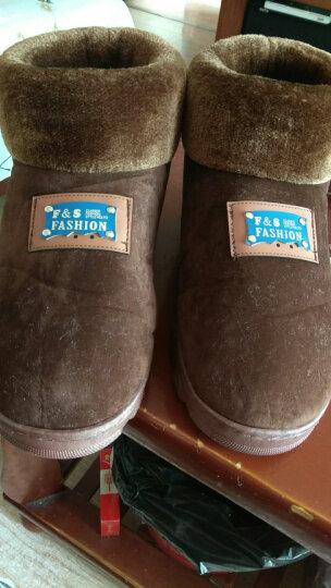 芷间 棉拖鞋男士大码包跟厚底冬季保暖加绒居家室内新品中老年爸爸高帮棉鞋 蓝色 46-47(适合43/44的脚) 晒单图