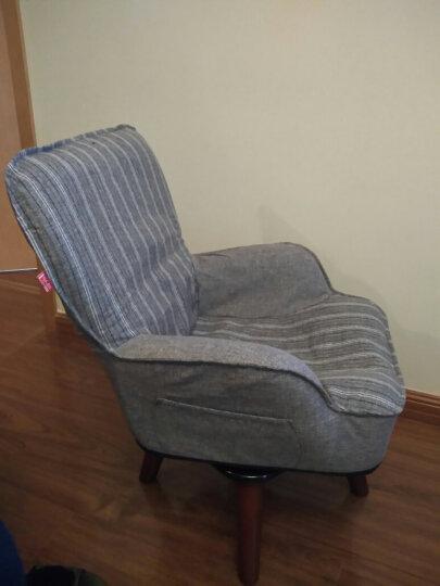 懒人日记 旋转儿童沙发椅 单人布艺可拆洗幼儿园儿童房阅读椅休闲迷你宝宝小沙发 灰色001HPLK-GY 晒单图