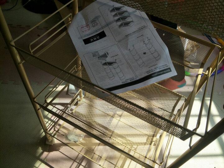 心家宜(SINGAYE) 四层置物架44*26*85cm 厨房收纳架 家居网篮储物架滑轮推车层车 银色98405S 晒单图