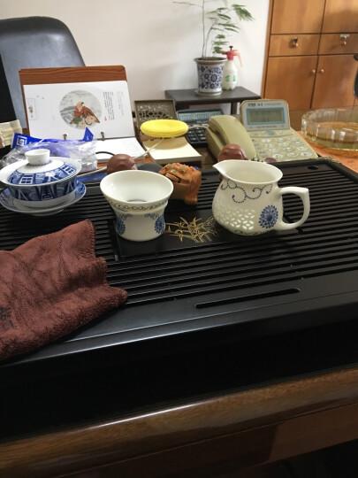金镶玉 茶具套装 整套茶具 幽雅玲珑家用功夫茶具套装陶瓷泡茶炉套装 柯木茶盘茶托电热炉套组全套茶具 晒单图