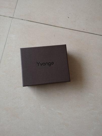 韵歌(Yvongo)卡包男大容量拉链风琴卡片包真皮牛皮多卡位名片夹 晒单图