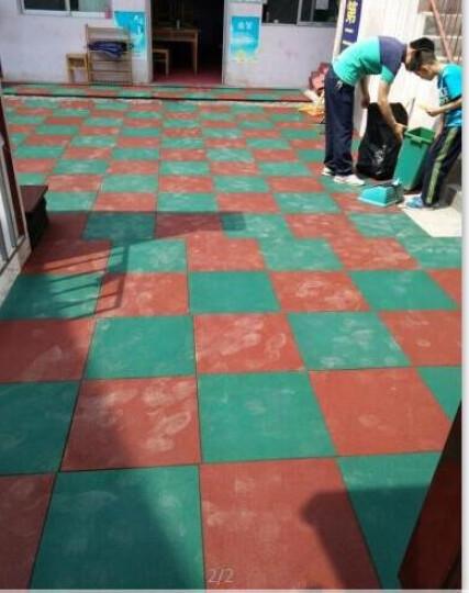 幼儿园塑胶环保地垫学校跑道铺垫设施室内室外户外橡胶地垫2.5cm 50x50CM灰色2.0CM 晒单图