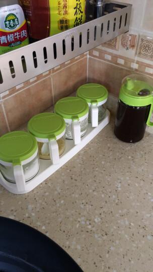 【三件7折】茶花玻璃调料盒调味罐调味盒套装盐罐调料罐调味瓶油壶套餐厨房用品 4组调味罐(绿色)+大号550ML油壶(绿色) 晒单图