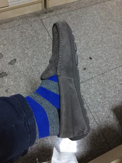 ECCO爱步 轻便舒适套脚豆豆鞋男 简约时尚磨砂休闲皮鞋 温暖莫克581604 灰色50148 42 晒单图