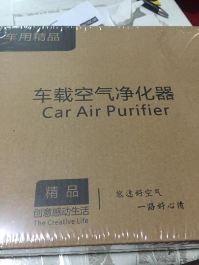 绿度OZ-60汽车车载空气净化器除甲醛车内负离子氧吧车用烟味异味PM2.5 金色 晒单图