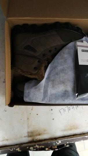 OEOVEAO/欧维欧 雪地靴男靴加绒保暖棉鞋 男士靴子男短靴军靴马丁靴男 棕色 41 晒单图