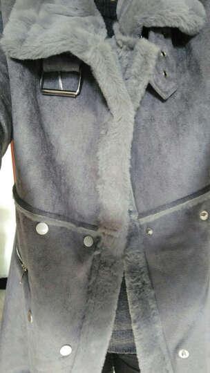 恋思妮  棉衣女中长款2017冬季新款棉服女韩版修身棉袄外套女新品 粉色 XL 晒单图