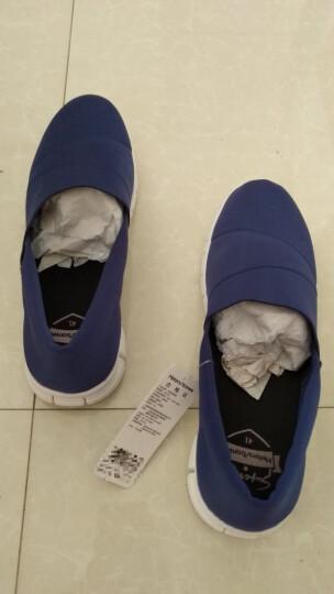 美特斯邦威男板鞋时尚潮流休闲情侣轻便一脚蹬懒人鞋春冬新款 黑色组 38 晒单图