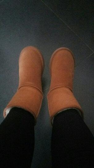 公猴雪地靴女真皮加绒加厚保暖靴平底短筒靴防滑棉鞋女靴 1854香芋紫 40 晒单图