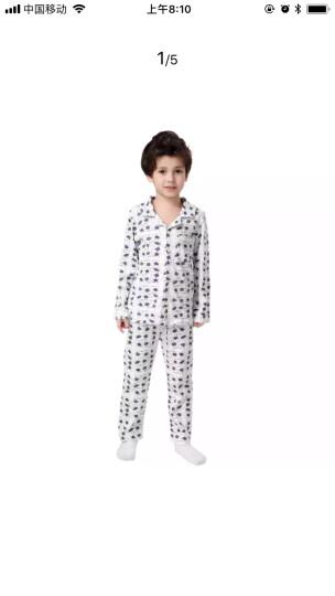 馨颂 男童家居服儿童卡通大树圆领内衣睡衣裤套装 C081D 灰色条纹 110 晒单图