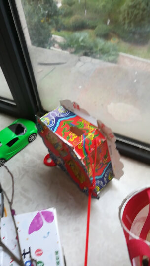 2019新年灯笼元宵节儿童手提发光幼儿园led纸制DIY玩具花灯 款式4 吉祥如意灯笼 晒单图