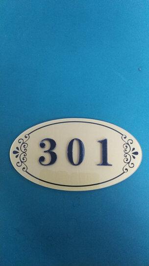 门牌号定制亚克力数字贴宾馆酒店宿舍房间号包厢号门牌号码牌家用 L款 晒单图