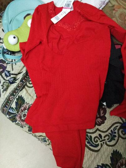婷美保暖套装美体舒适透气性感女士内衣 QE5668 红色 均码 晒单图