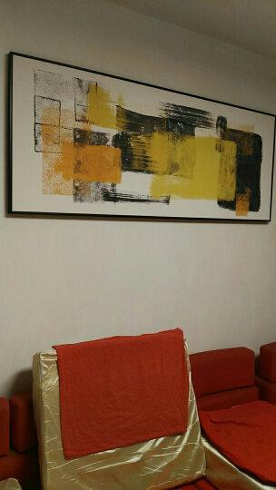 星川 客厅背景墙装饰画大幅现代抽象色块壁画餐厅个性酒店挂画形迹 B款-黑色外框 185*75cm 晒单图