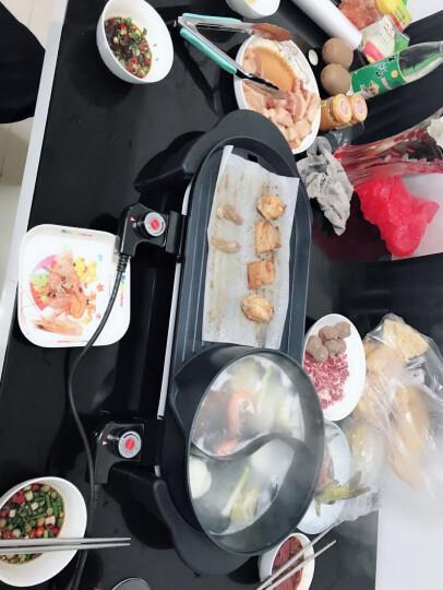 韩式无烟家用电烤炉煎烤机烤肉机烤串机 韩国多功能电热烧烤炉铁板烧电烤盘 商用鸳鸯烧涮一体锅 晒单图