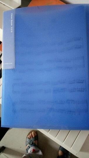 得力(deli)彩色半透镜面超透内页A4资料册/文件册/文件袋-40页 深蓝 晒单图