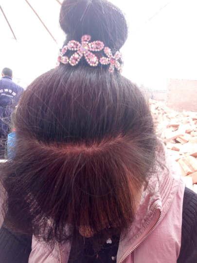 奇色 日韩仿水晶花苞夹 丸子头马尾扣夹 发饰发夹发扣带齿发夹女韩版 粉红色 晒单图