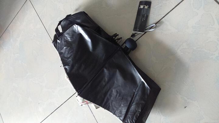 天堂伞 黑胶细格三折晴雨伞太阳伞 米色 33346E 晒单图