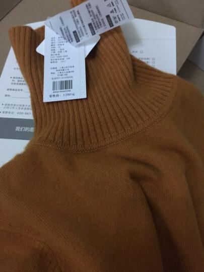织乎秋冬新款纯色山羊绒衫女高领修身加厚套头毛衣女装针织打底衫 印加金色 M 晒单图